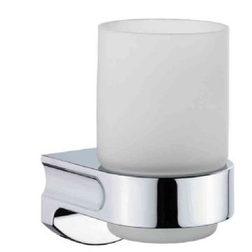 Sonia S1 Frosted Glass Tumbler Holder Chrome 122097